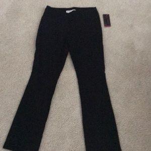Black bootcut pull on slacks